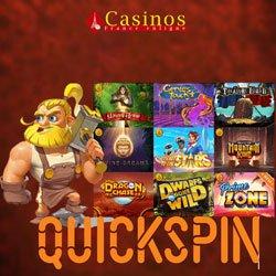Les casinos alimentés par Quickspin en ligne